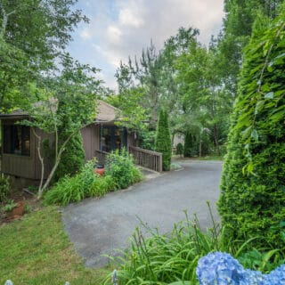 My Roundette has flower beds - The Cove at Fairview Vacation Rentals - Asheville NC