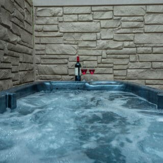 My Roundette has a2 person hot tub - The Cove at Fairview Vacation Rentals - Asheville NC