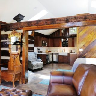 Open layout at the Garden Cabin - The Cove at Fairview - Vacation Rentals - Asheville, NC