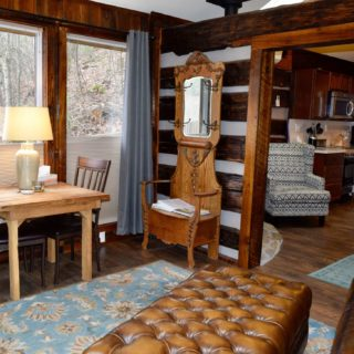 Antique hall tree at the Garden Cabin - The Cove at Fairview - Vacation Rentals - Asheville, NC