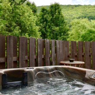 Garden Cabin hot tub - The Cove at Fairview - Vacation Rentals - Asheville, NC