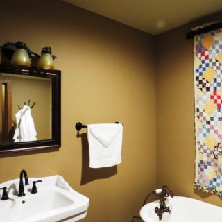 Basement Bathroom at The Huntley - The Cove at Fairview Vacation Rentals - Asheville NC