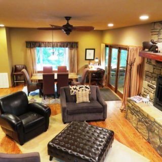 The Huntley has a large Living Room - The Cove at Fairview Vacation Rentals - Asheville NC