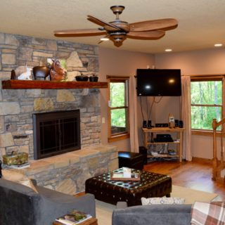 The Huntley features an Indoor Fireplace - The Cove at Fairview Vacation Rentals - Asheville NC