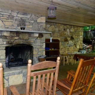Covered Porch at The Huntley - The Cove at Fairview - Vacation Rentals - Asheville NC