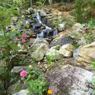Waterfall at The Huntley - The Cove at Fairview Vacation Rentals - Asheville NC