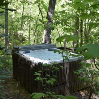 Hot Tub at The Huntley - The Cove at Fairview Vacation Rentals - Asheville NC