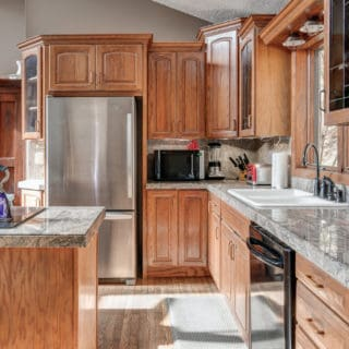 Our House kitchen appliances - The Cove at Fairview Vacation Rentals - Asheville NC